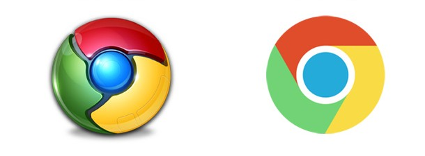 Google chrome デザイン 変遷