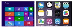 フラットデザイン Windows iPhone