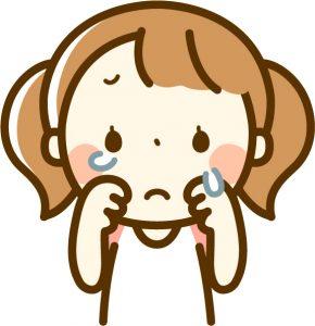泣く 少女